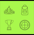 basic content simple linear outline icon set vector image vector image