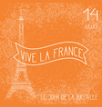 bastille day french national holiday eiffel vector image vector image