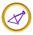 Bicycle frame icon vector image vector image