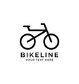 bicycle line graphic design template isolated vector image vector image