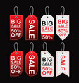 big sale price tags vector image vector image
