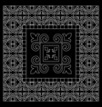 black and white bandana print with tiling pattern vector image vector image