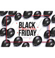 black friday sale banner flyer with balloons vector image
