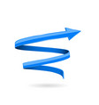 blue 3d arrow spiral web icon