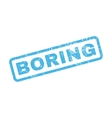 Boring Rubber Stamp vector image vector image