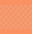 bright orange 3d rhombuses in a seamless pattern vector image