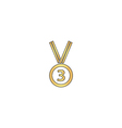 bronze medal computer symbol vector image vector image