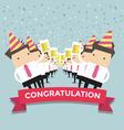 Businessman Congratulation party vector image