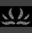 chalk set with branches and laurel wreath vector image vector image