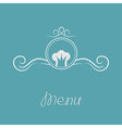 Chef hat crown and round abstract frame Menu card vector image vector image