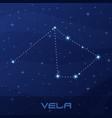 constellation vela sails night star sky vector image vector image