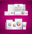 corporate identity branding business stationery vector image