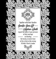 damask victorian brocade pattern invitation vector image vector image