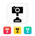 Digital camera icon on white background vector image vector image
