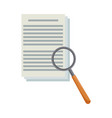 document paper magnifier system search vector image