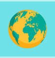 earth icon flat style vector image