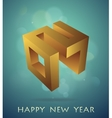 Emblem for 2017 with greetings vector image vector image