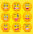 emoticon smiley cartoon set vector image vector image