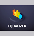equalizer isometric icon isolated on color vector image