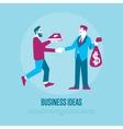 Exchange ideas to money vector image vector image