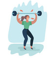 exhausted sports woman vector image vector image