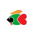fish warrior vector image