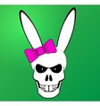 Funny Easter Bunny skull with pink bow