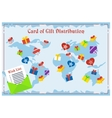 gift card distribution vector image vector image