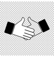 handshake icon business deal signing the contract vector image vector image
