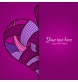 Happy Valentines Day card with knitted heart vector image vector image