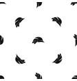 hardhat pattern seamless black vector image vector image