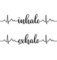 inhale and exhale vector image vector image