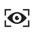 iris scan for biometric identification vector image