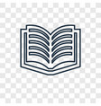 literature concept linear icon isolated on vector image
