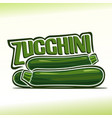 logo for zucchini vector image vector image