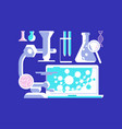 medical science icons vector image vector image