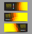 multipurpose layout banner design 2 vector image