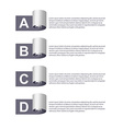 Paper Ribbons Infographic vector image vector image