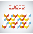 pattern of cubes vector image vector image