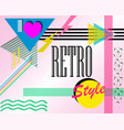 pop-style poster with the words i love retro vector image vector image