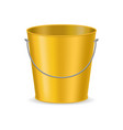 realistic detailed 3d color bucket and handle vector image
