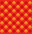 red argyle seamless pattern vector image vector image