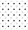 repeating abstract black and white square pattern vector image vector image