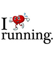 Running sign vector image vector image