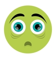 scared face emoticon icon vector image vector image