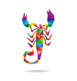 Scorpion abstract isolated vector image