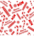 Seamless pattern with candies snowflakes vector image vector image