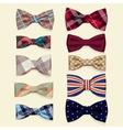 set bow-ties vector image