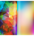 Set of polygon triangles and blurred backgrounds vector image vector image