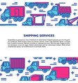 shipping and delivery banner template vector image